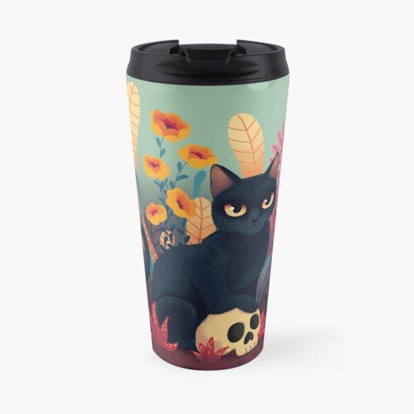 Skull kitty Travel Mug