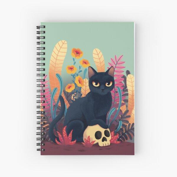 Skull kitty Spiral Notebook