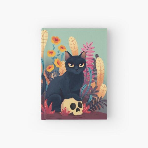 Skull kitty Hardcover Journal