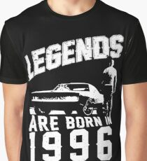 Legends Are Born In 1996 Graphic T-Shirt