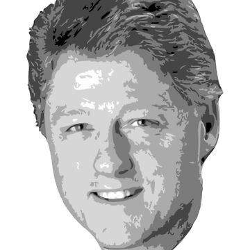 Bill Clinton Winning Smile Grayscale Pop Art by idaspark