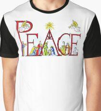 Peace Christmas Nativity Scene Graphic T-Shirt
