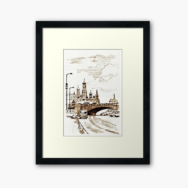 old town Framed Art Print