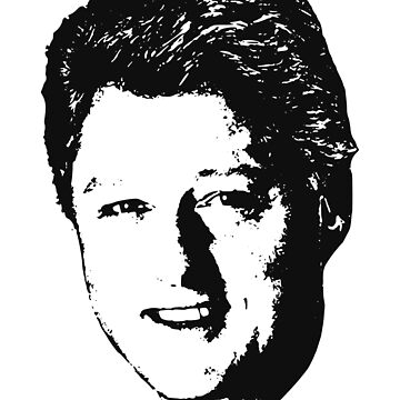 Bill Clinton Winning Smile Black On White Pop Art by idaspark