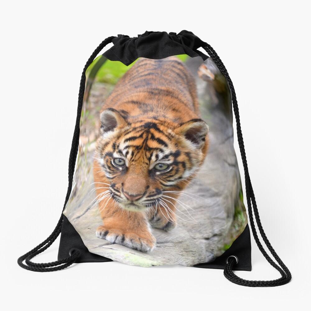 Baby Sumatran Tiger Cub Drawstring Bag