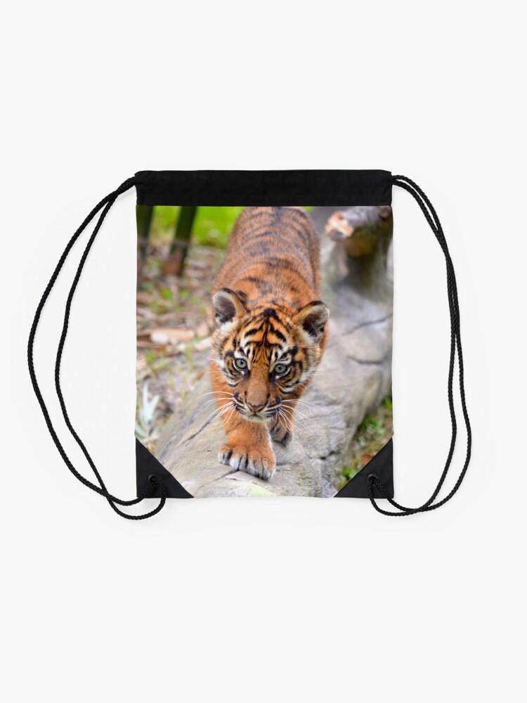 Alternate view of Baby Sumatran Tiger Cub Drawstring Bag