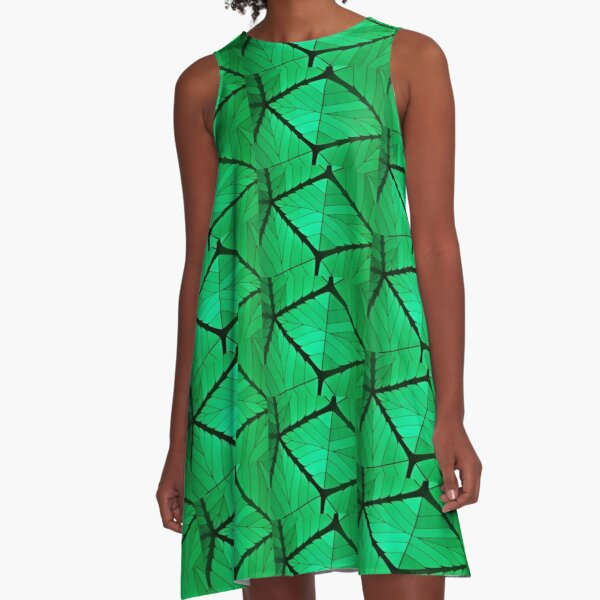 Lines of branching arboreality  A-Line Dress