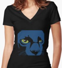 Black Panther Dark T-Shirt Women's Fitted V-Neck T-Shirt