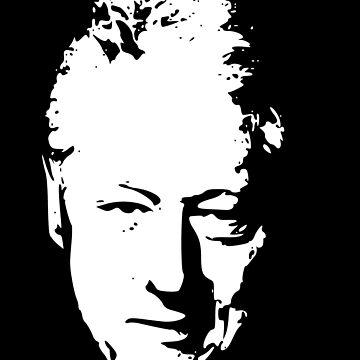 Bill Clinton White On Black Pop Art by idaspark