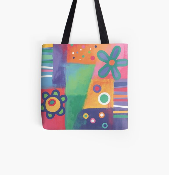 Flowers Patchwork All Over Print Tote Bag