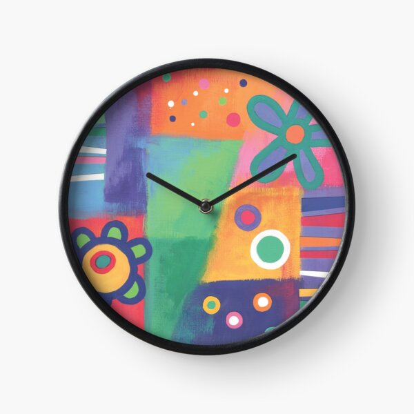 Flowers Patchwork Clock