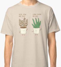 Camiseta clásica etiqueta de jardín