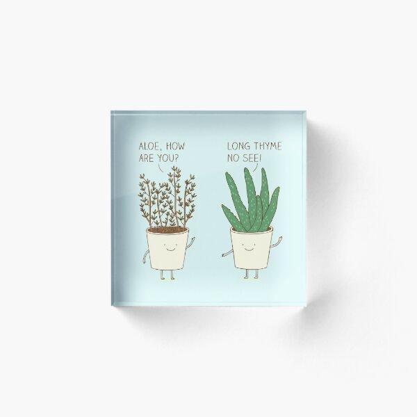 garden etiquette Acrylic Block