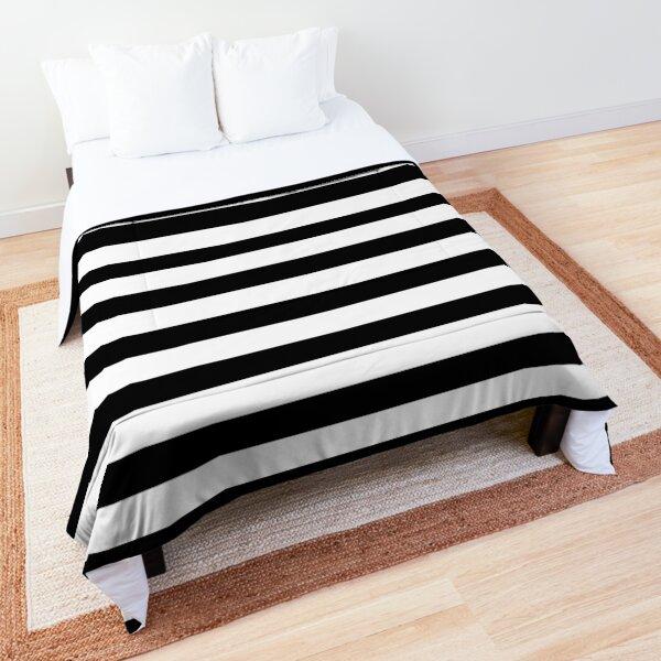 Black and white striped Comforter