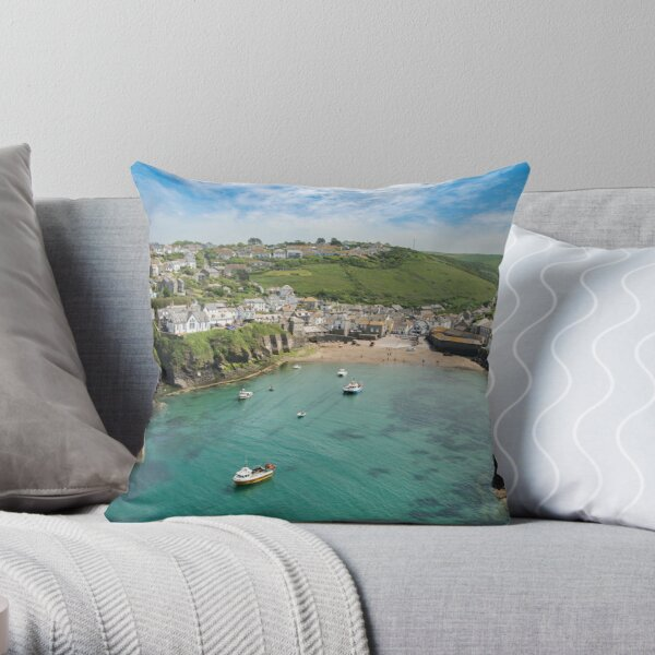 Port Isaac Cornwall Throw Pillow