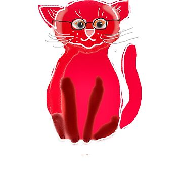 CLEVER CAT/RED by Shoshonan