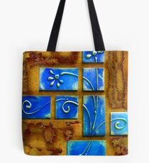 Blue Wafers Tote Bag