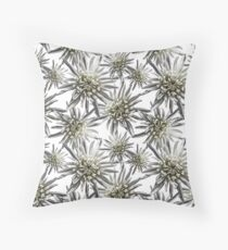Mum Floral Pattern - Mum's the word - Black and White Floral Design - White Mum Flowers - I Love my Mum - Mother Print Floor Pillow