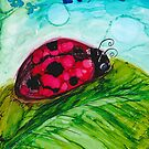 Lady Bug on a Leaf by Kimberly Pusey