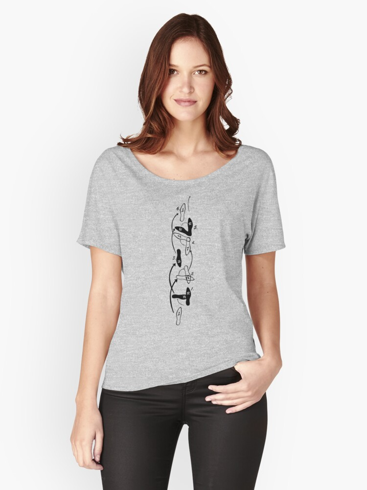 Dance steps Women's Relaxed Fit T-Shirt Front