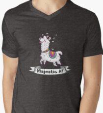 Happy Llama Majestic AF Men's V-Neck T-Shirt