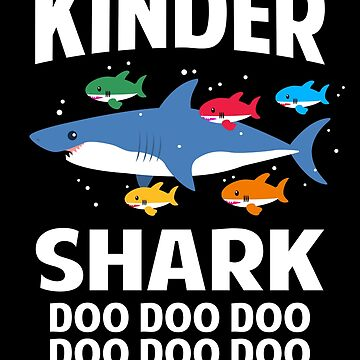 Kindergarten Teacher Shark Doo Doo Doo Funny Baby Shark by JapaneseInkArt