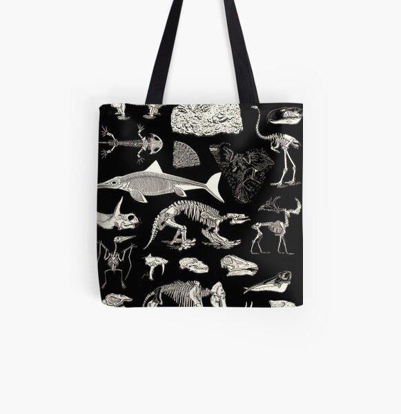 Paleontology Illustration All Over Print Tote Bag