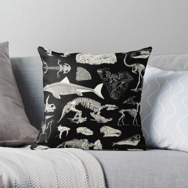 Paleontology Illustration Throw Pillow