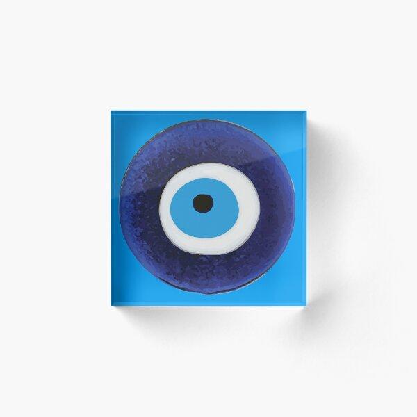 Nazar Evil Eye Protection Amulet Bead Symbol Acrylic Block