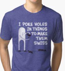 Swiss Happens! Tri-blend T-Shirt