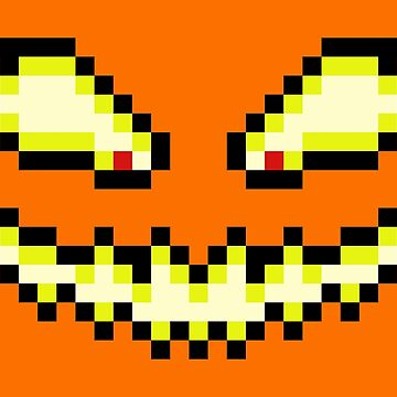 Pixel Pumpkin Face by gkillerb