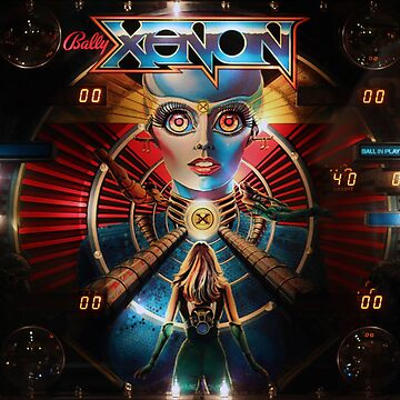 XENON PINBALL - VINTAGE 80s ARTWORK by SUNSET-STORE