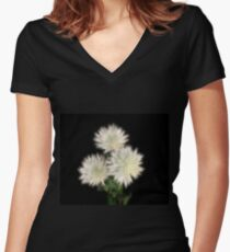 Electric Flowers! Fitted V-Neck T-Shirt