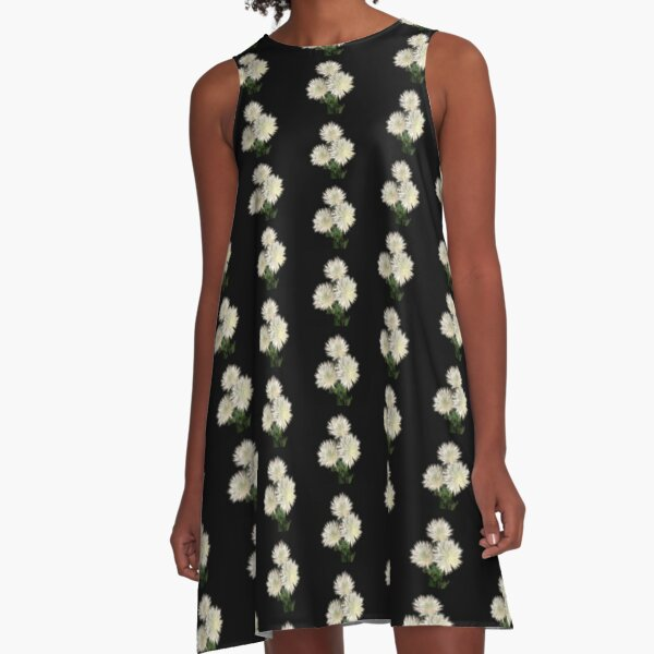 Electric Flowers! A-Line Dress
