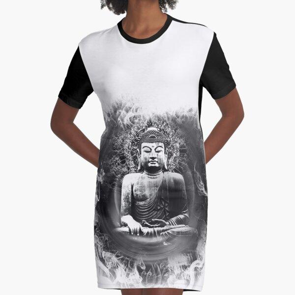 Buddha Graphic T-Shirt Dress