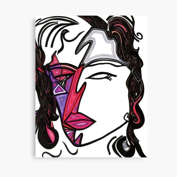 Half Masked Canvas Print