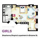 Floorplan of Shoshanna Shapiro's apartment from GIRLS by Iñaki Aliste Lizarralde