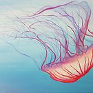 Acrylic Painting of Pink Jellyfish by Alannis Turner