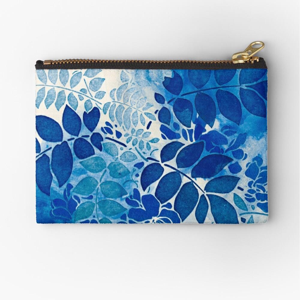 Blumenstrauß bleu abstrai / abstrakter blauer Blumenstrauß Täschchen