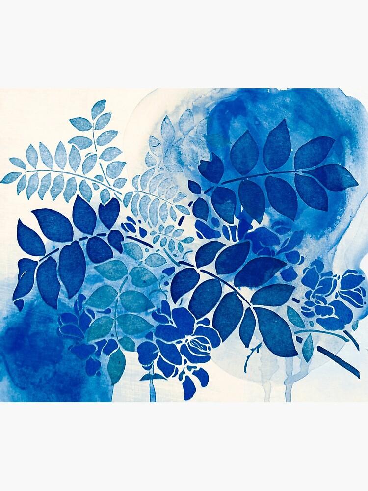 bouquet bleu abstrai / abstract blue bouquet de clemfloral