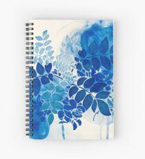 Blumenstrauß bleu abstrai / abstrakter blauer Blumenstrauß Spiralblock