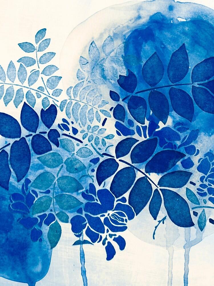 bouquet bleu abstrai/abstract blue bouquet by clemfloral