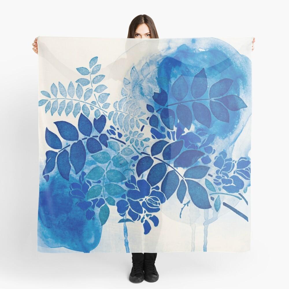 bouquet bleu abstrai/abstract blue bouquet Scarf