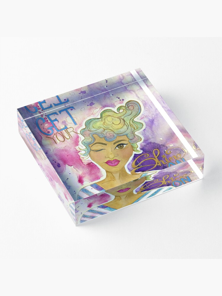 Alternate view of Get Your Shine On . . . Acrylic Block