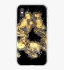 Skeleton human glowing Art iPhone Case