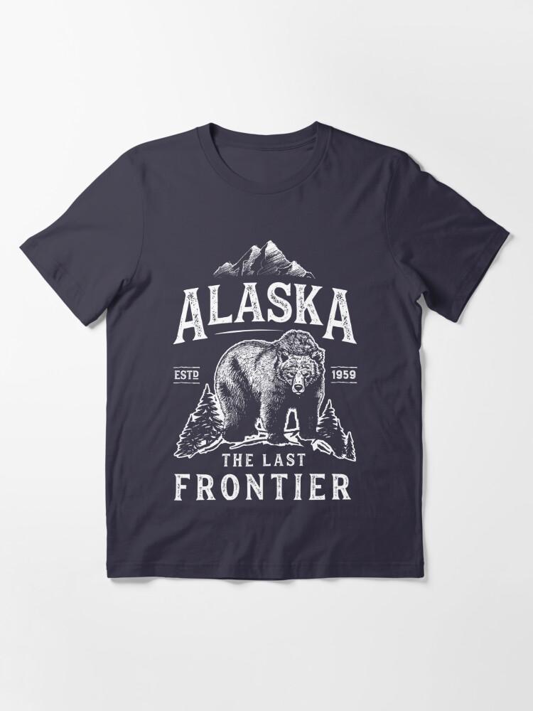 Alternate view of Alaska The Last Frontier Bear Home T Shirt Men Women Vintage Gifts National Park Essential T-Shirt
