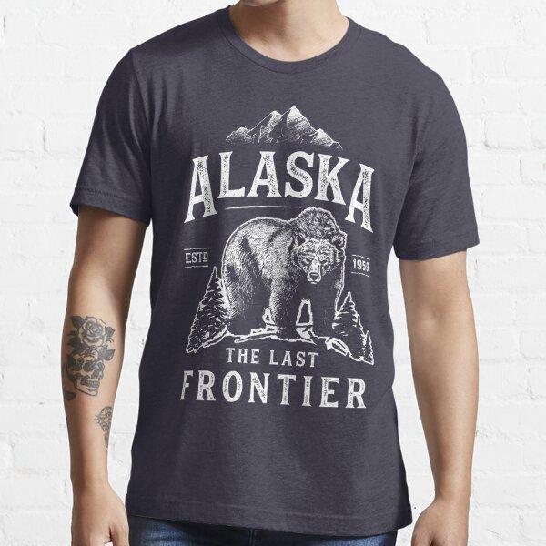 Alaska The Last Frontier Bear Home T Shirt Men Women Vintage Gifts National Park Essential T-Shirt