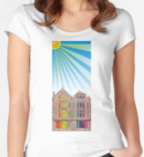 Cookes Building Summer Women's Fitted Scoop T-Shirt