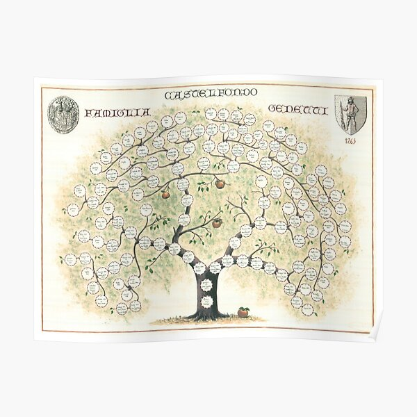 Original Genetti Family Tree Poster