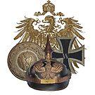 German 1914 Eagle, Pickelhaube, Belt Buckle, Iron Cross by edsimoneit